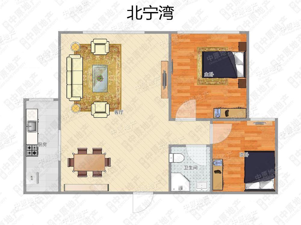 宁静家园,两室一厅双阳户型,采光好,视野宽阔