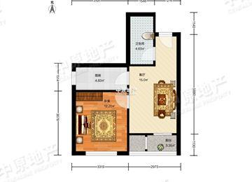 长方形户型图北客厅